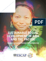 sustainable         social         development         in         a-p