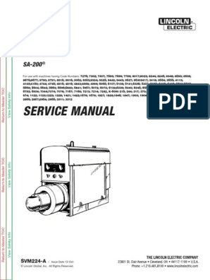 all_sa200_arc welding generator service manuals | Welding ... on