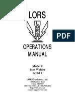 Butt Welder Manual