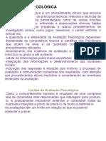 AVALIAÇÃO PSICOLÒGICA