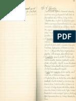 Extrait d'un cahier de notes d'Hector Legros