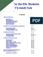 Games in ESL, Book Resource