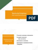 6 - Teoria Da Empresa - Estabelecimento - 23.03.18