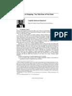 Ambrose Rajadurai - 2004 - Regulation of Shipping the Vital Role of Port State Control