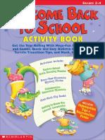 Welcome back school activities
