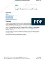 High Level Methodology Troubleshooting Active Directory Problems