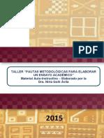 Manual Taller Pautas Metodolc3b3gicas Para Un Ensayo de Investigacic3b3n Amag