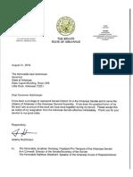 Senator Hutchinson Resignation Letter
