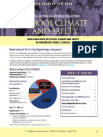 Civil Rights Data Collection report on School Climate & Safety