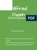 wildred owen dulce et decorum est group work activity