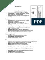 list of lab equipment