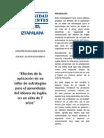 Estrategias Para El Aprendizaje de Inglés (1)............