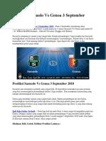Prediksi Sassuolo vs Genoa 3 September 2018