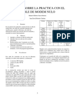Informe Sobre La Practica Con El Cable de Modem Nulo