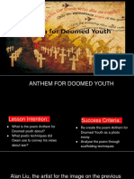 anthem for doomed youth student activity