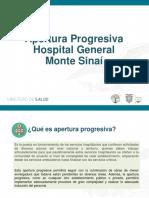 Hospital General Monte Sinaí-Apertura por fases
