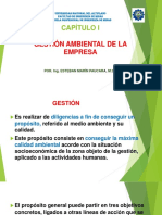 CAPÍTULO I (Gestión Ambiental en Eempresa) Diapositiva