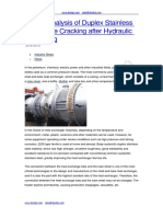 Failure Analysis of Duplex Stainless Steel Tube Cracking After Hydraulic Expanding