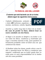 Reglamento locker