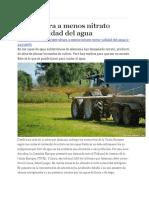 Agricultura a Menos Nitrato Mejor Calidad Del Agua