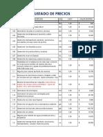 Lista de Precios Contratistas