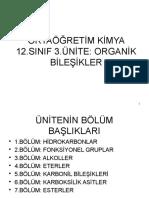 ORTAÖĞRETİM KİMYA 12.SINIF 3.ÜNİTE; ORGANİK BİLEŞİKLER.pptx