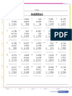 Addition of 3 Numbers Worksheet