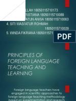 Chapter 1 - Principles of Foreign Language Teaching and Learning