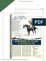 Sabre Gendarmerie Des Chasses Et Voyages Du Roi