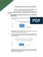 Informe Estadistico de La Encuesta a Estudiantes y Profesores de Derecho