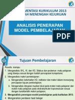 Analisis Penerapan Model Pembelajaran