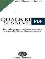 Quale Ricco Si Salvera_ - Clemente Alessandrino