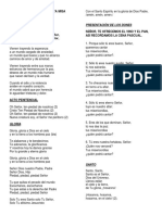 Cantos Misa Del Pedregal