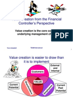 Value Creation for Financial Controllers
