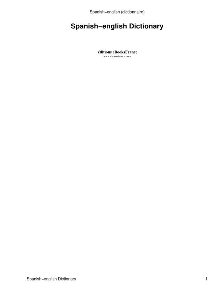 a311381ef75 Diccionario Español-Ingles
