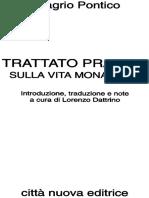 Trattato Pratico Sulla Vita Mon - Evagrio Pontico
