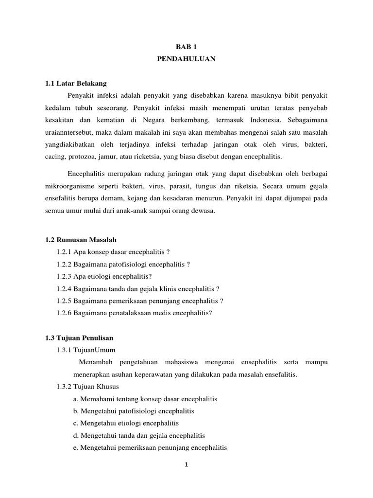 Askep Encephalitis