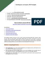Como Fazer – Desbloquear Um Arquivo .PDF Protegido