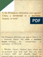Lecture Sea Dispute