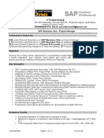 Prasad Cv Sap b1 Project Manager
