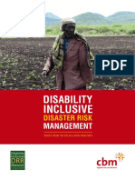 Disability Inclusive Disaster Risk Management