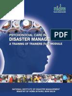 Psychosocial care in disasters ToT NIDM