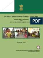 NDMA NIMHANS Guidelines on Psycho-social Support and Mental Health Services (PSSMHS) in Disasters