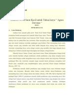 Analisis Mimetik Novel Surat Kecil Untuk Tuhan