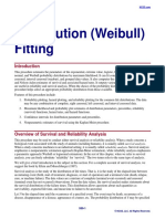 Distribution (Weibull) Fitting