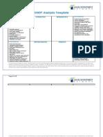 Swot analysis template doc swot analysis competition swot analysis template pronofoot35fo Images