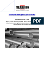 Titanium Manufacturers in India