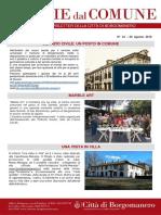 Notizie Dal Comune di Borgomanero del 30 Agosto 2018
