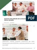 20-03-2018 Guerrero Está Saliendo de La Extrema Pobreza Héctor Astudillo.