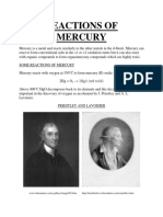 Reactions of Mercury
